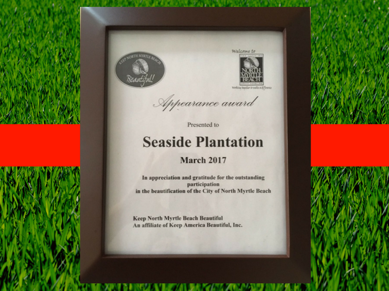 Seaside Plantation: Keep North Myrtle Beach Beautiful Appearance Award Winner